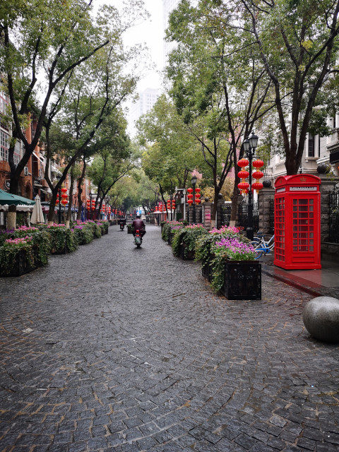 Leere Fußgängerzonen